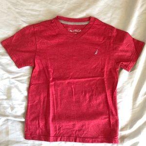 Boys Red Nautica T-shirt